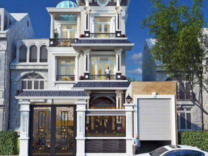 Mẫu biệt thự 3 tầng kiểu pháp – thiết kế biệt thự mái thái 3 tầng -anh Ngoan Đồng Nai