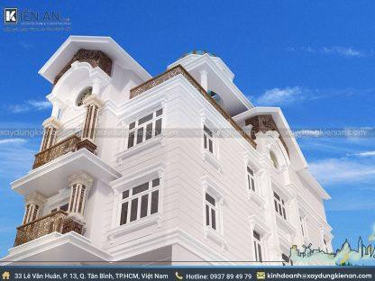 Mẫu biệt thự đẹp 3 tầng đơn giản