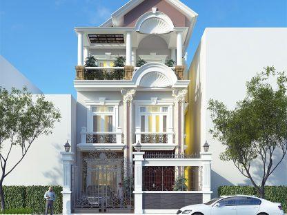 Mẫu biệt thự phố đẹp 3 tầng