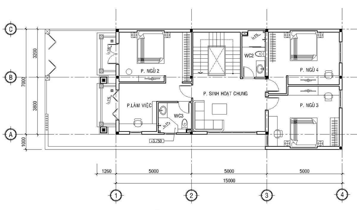 Mẫu biệt thự phố đẹp 3 tầng - Thiết kế mặt tiền biệt thự phố của anh Dương tỉnh Vĩnh Phúc