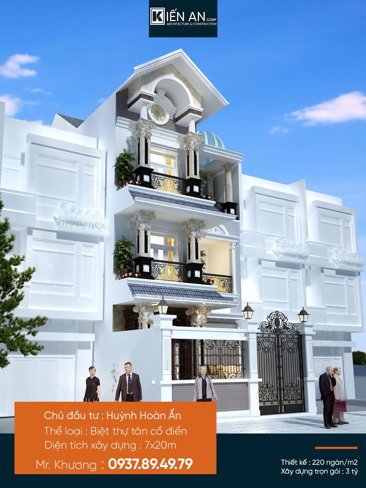 Mẫu nhà 3 tầng mặt tiền 7m