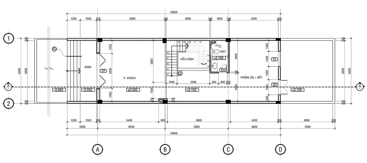Mẫu nhà phố mặt tiền 6m - Ngất ngây thiết kế nhà phố 3 tầng của chị Thuý thành phố Tây Ninh, tỉnh Tây Ninh