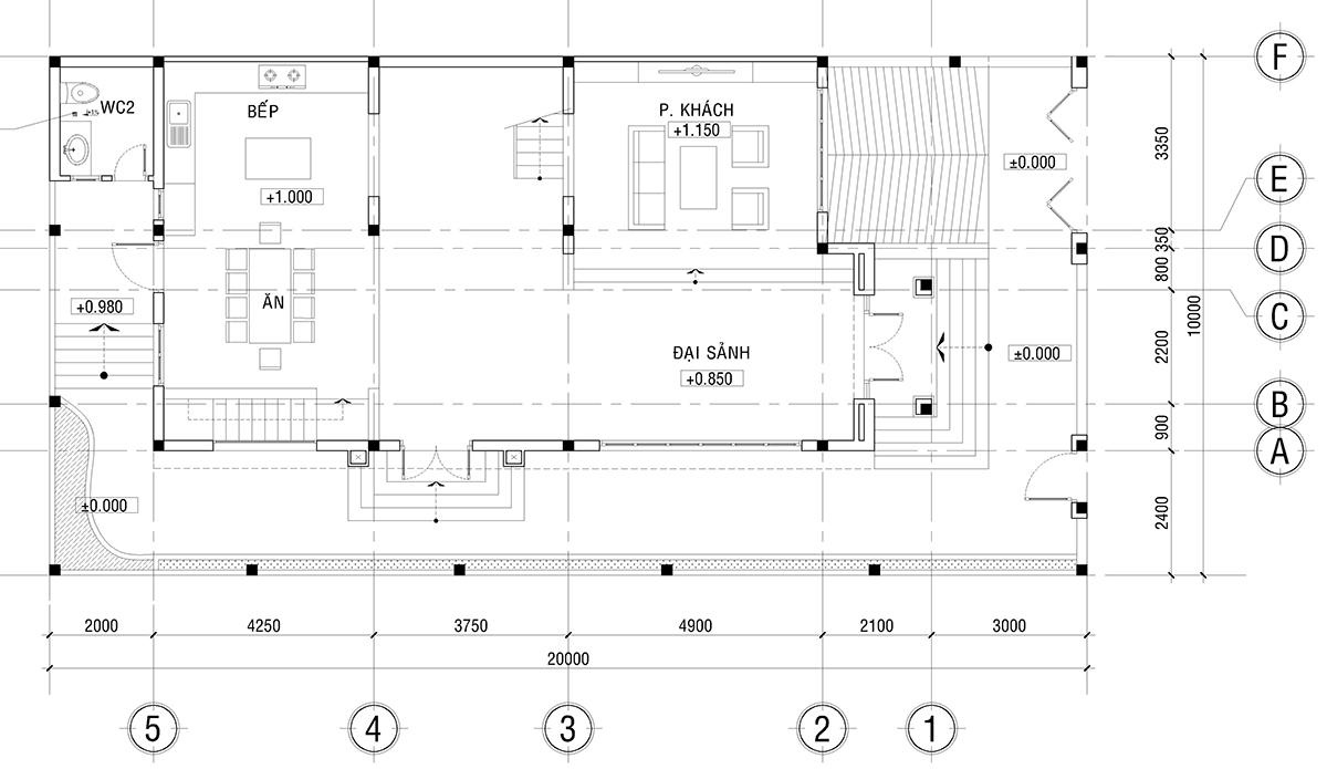Mẫu thiết kế biệt thự nhà vườn 2 tầng