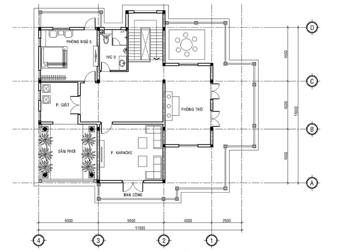 mẫu thiết kế biệt thự mini pháp