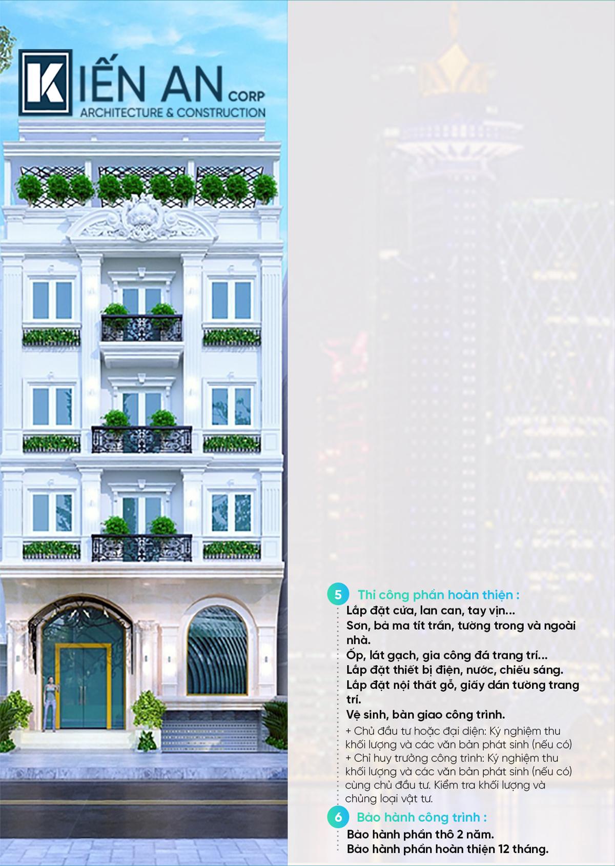 Quy trình xây dựng biệt thự nhà phố chuẩn Kiến An, Quy trình xây dựng chuẩn Kiến An