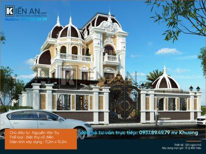 Mẫu biệt thự kiểu Pháp – Đẳng cấp cùng mẫu thiết kế biệt thự kiểu Pháp của anh Trụ. Quận 9   TP. Hồ Chí Minh