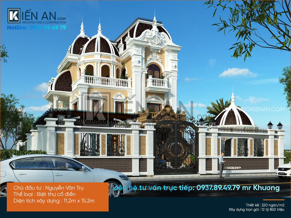 Mẫu biệt thự kiểu Pháp – Đẳng cấp cùng mẫu thiết kế biệt thự kiểu Pháp của anh Trụ. Quận 9 | TP. Hồ Chí Minh