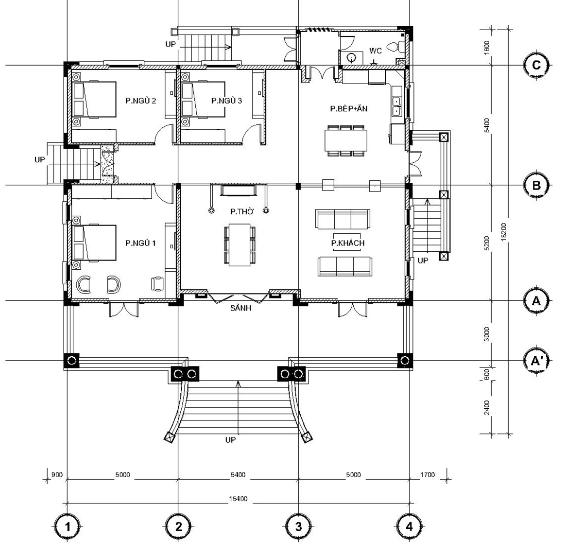 biệt thự mini nhà vường 1 tầng