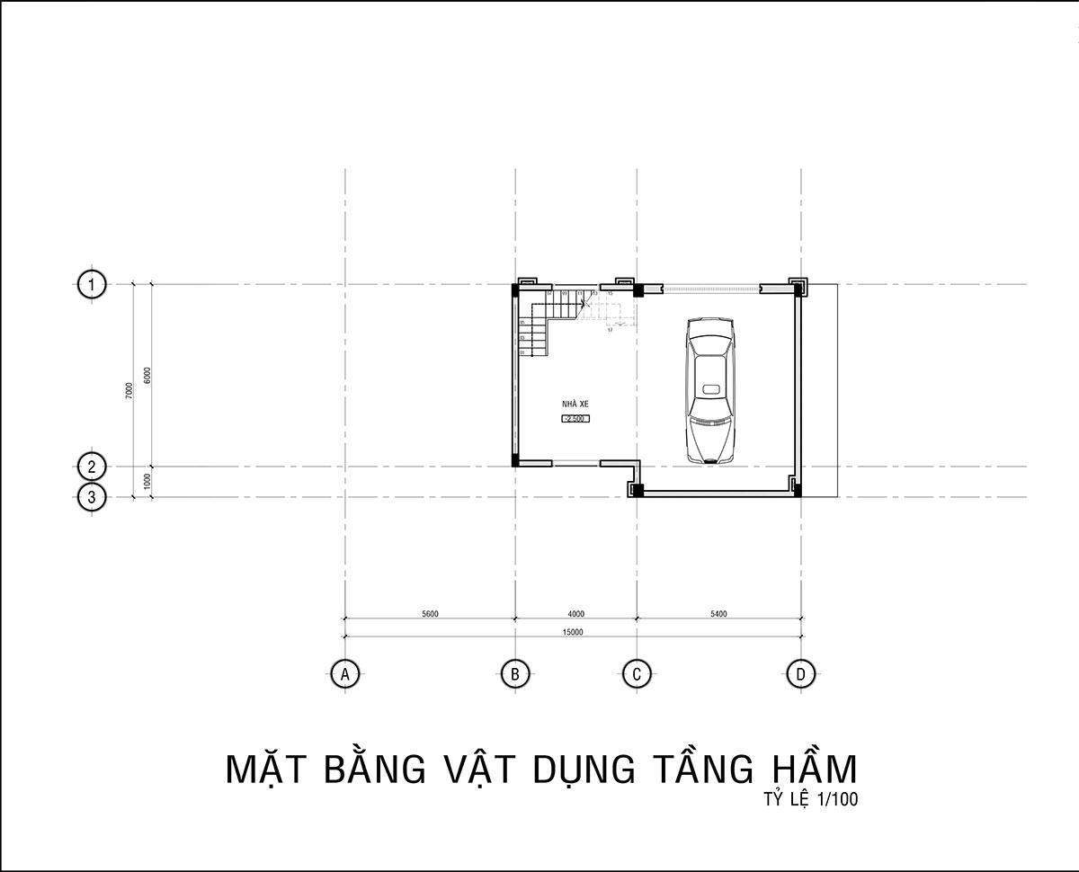 mẫu thiết kế biệt thự 3 tầng có tầng hầm