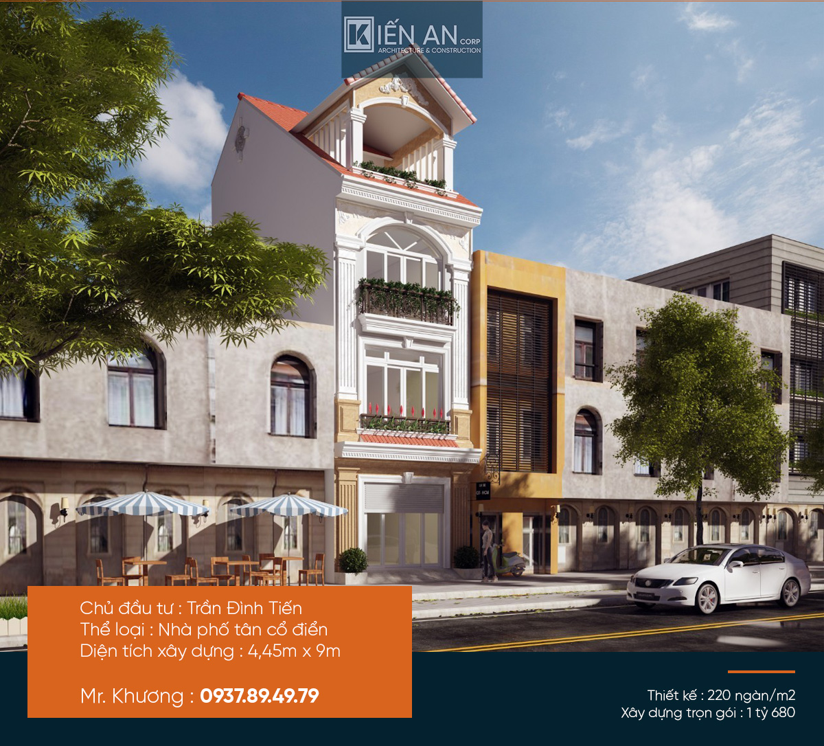 Mẫu thiết kế nhà phố đẹp – Giải pháp tối ưu với thiết kế nhà phố 3 tầng của anh Tiến quận 12, TP. HCM