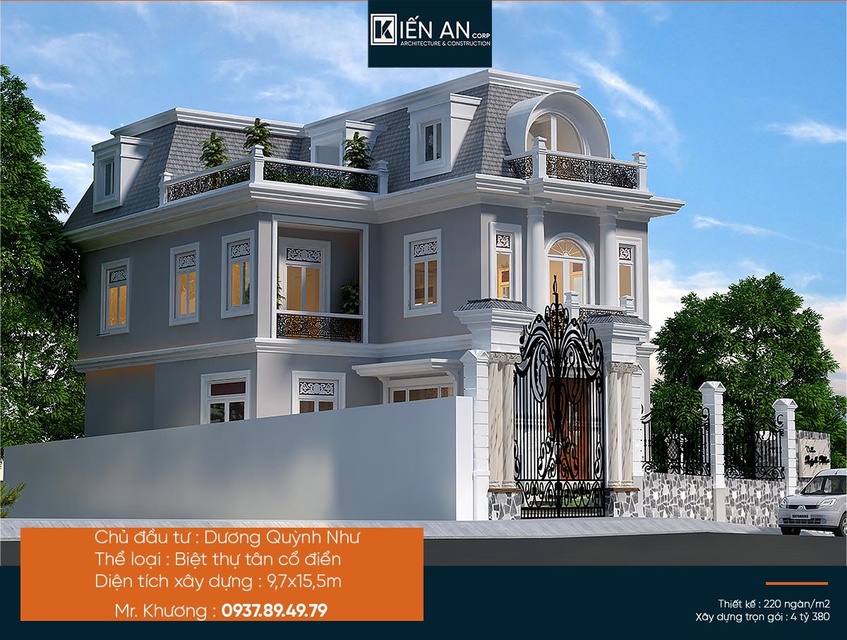 Mẫu biệt thự 2 tầng đẹp nhất – Say đắm vớithiết kế biệt thự phong cách tân cổ điển của chị Như tại Tp. Đà Lạt