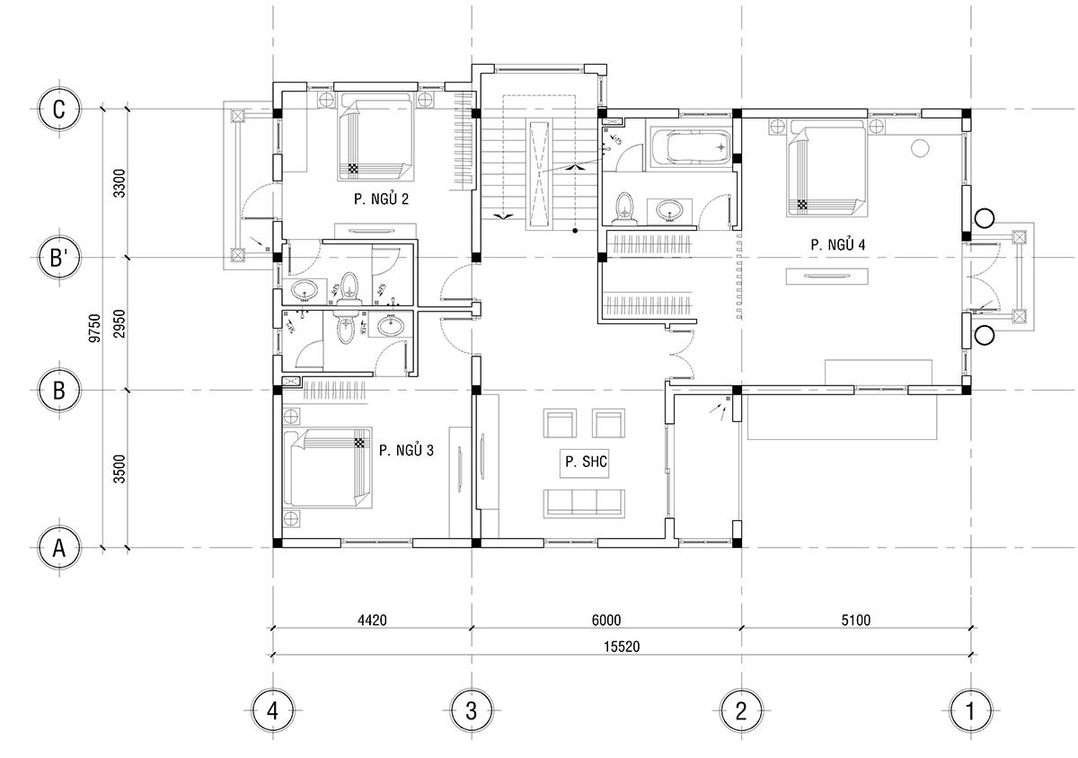 Mẫu biệt thự 2 tầng đẹp nhất