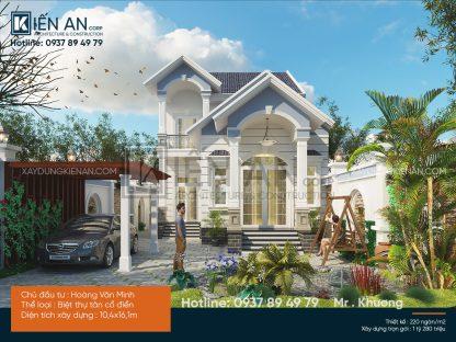 Mẫu thiết kế biệt thự mini 2 tầng nhà vườn tại Bình Phước