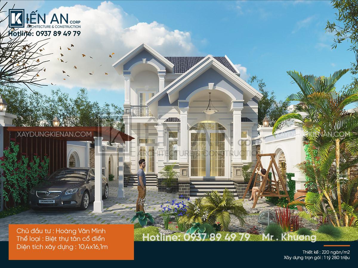 Mẫu biệt thự 2 tầng mini – Ngất ngây thiết kế biệt thự nhà vườn ở nông thôn tại Bình Phước
