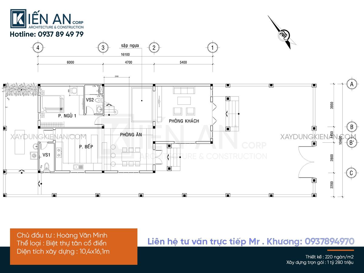 mẫu nhà 2 tầng mái lệch
