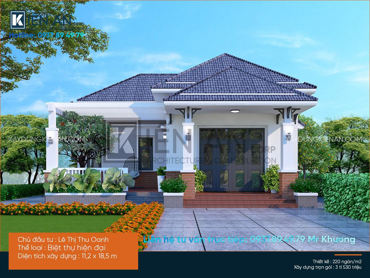 """Mẫu nhà biệt thự 1 tầng đẹp– """"Lột xác"""" cho ngôi nhà ba gian kiểu cũ của chị Oanh bằng phong cách hiện đại – Huyện Thượng Thừa – Tỉnh Long An"""