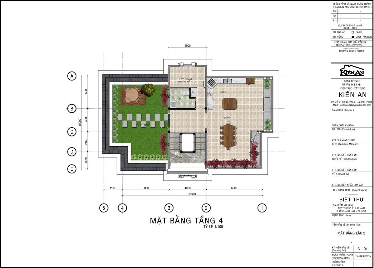 mẫu thiết kế biệt thự 4 tầng