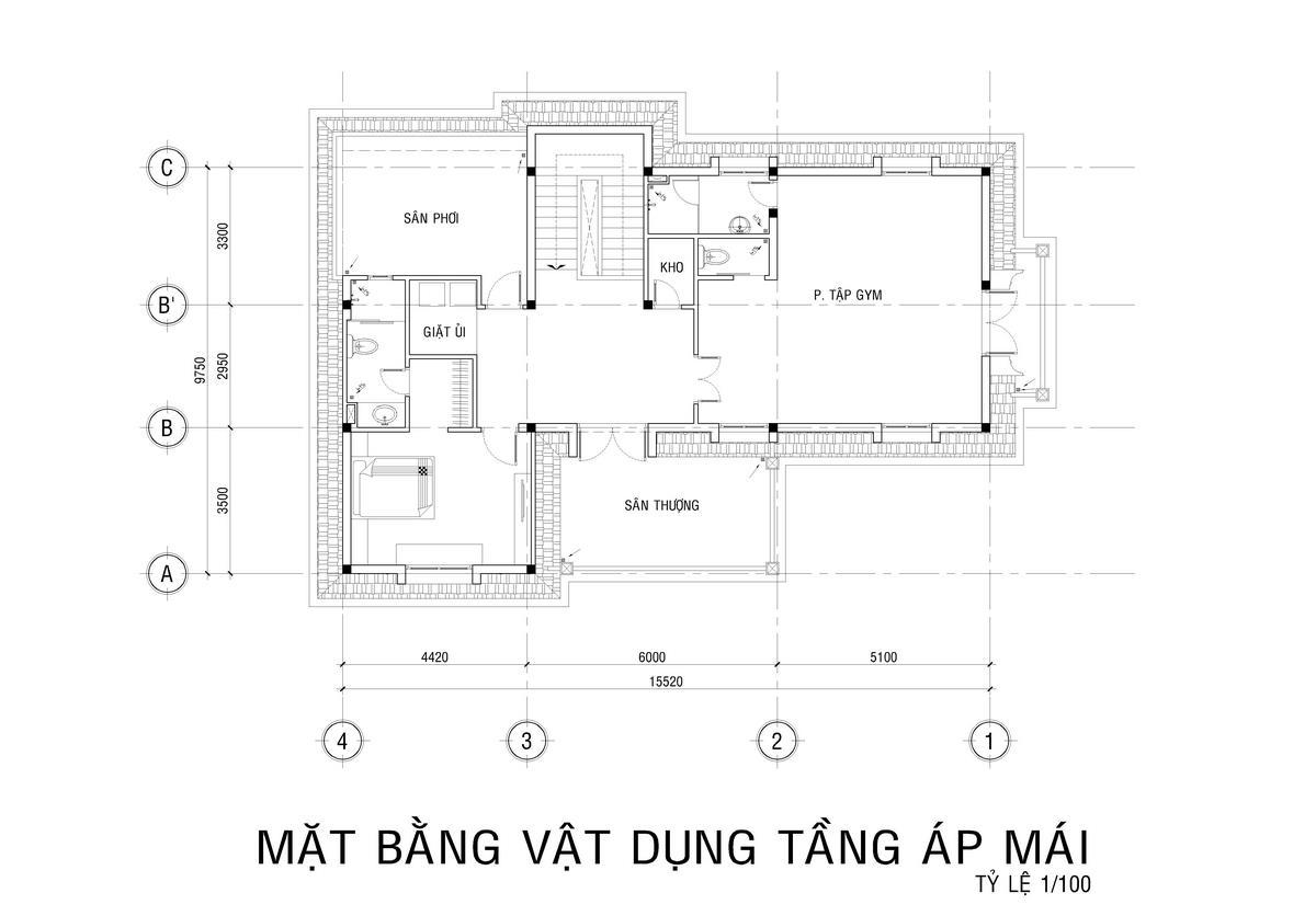 mẫu nhà biệt thự 3 tầng 2 mặt tiền
