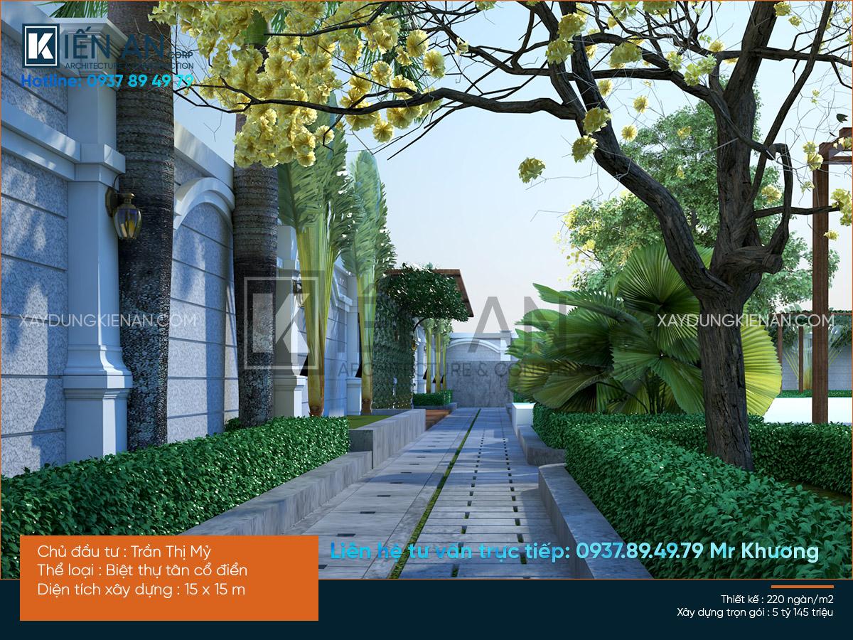 mẫu nhà biệt thự vườn