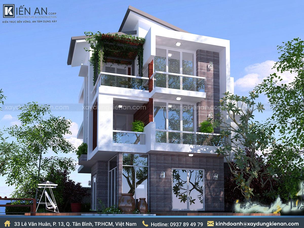 thiết kế nhà 10x20m