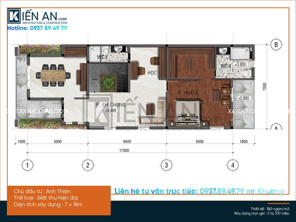 Mẫu thiết kế nhà biệt thự đẹp 3 tầng