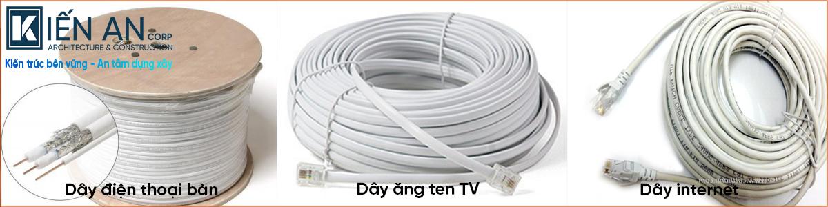 Dây cáp tivi - dây điện thoại bàn - dây cáp internet