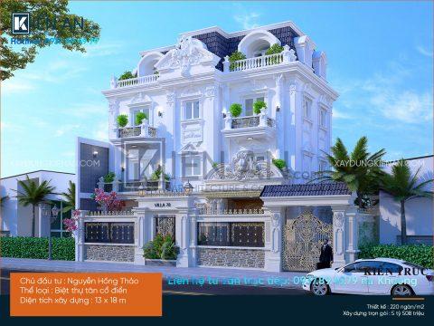 mẫu thiết kế biệt thự đẹp 2
