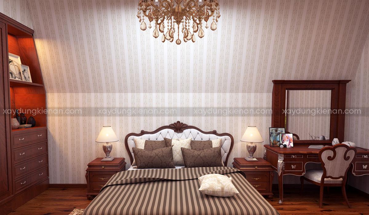 Nội thất phòng ngủ biệt thự châu Âu