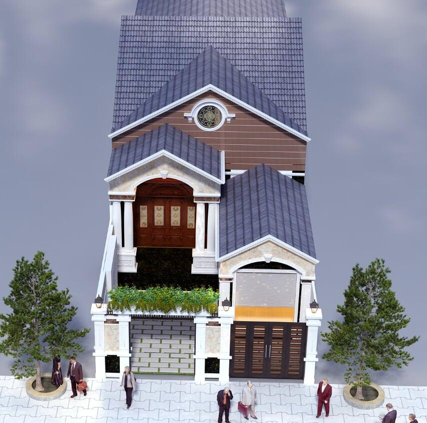 Hình ảnh: Mẫu biệt thự đẹp 1 tầng kiến trúc tân cổ điển diện tích 100m2 tại tiền Giang