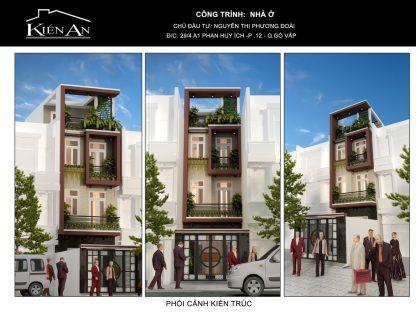 Ấn tượng với mẫu thiết kế biệt thự hiện đại 3 tầng trẻ trung tại Gò Vấp