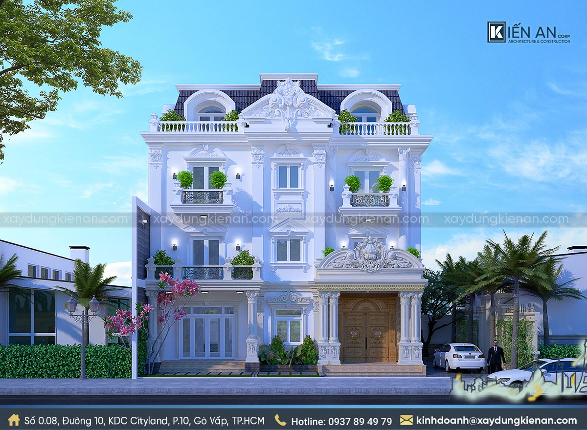 biệt thự cổ điển 4 tầng
