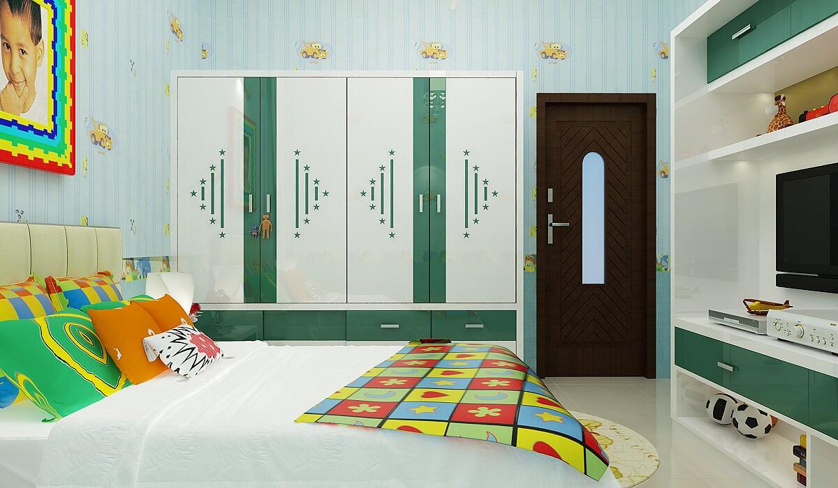 Hình ảnh : phòng ngủ dành cho bé được sắp xếp bài trí rất thông minh