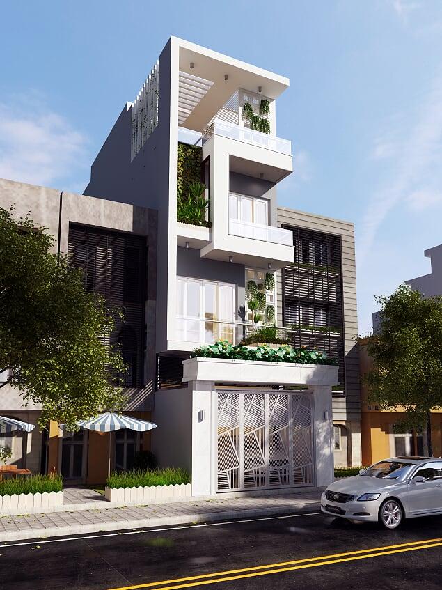 thiết kế nhà phố rộng 5m