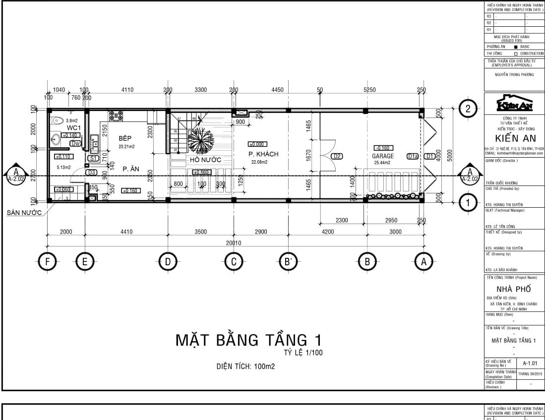 thiết kế nhà phố 5m