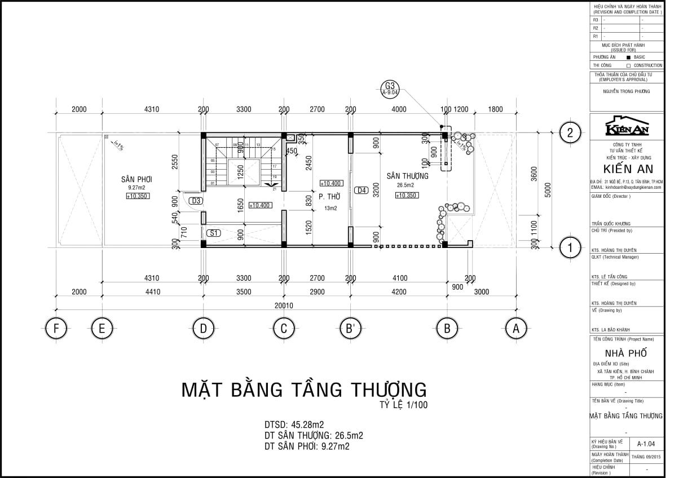 thiết kế nhà phố ngang 5m