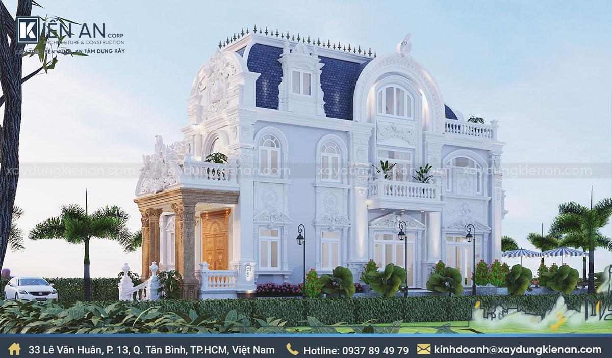 mẫu thiết kế biệt thự cổ điển 2 tầng
