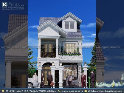 Mẫu thiết kế biệt thự Pháp 2 tầng 1 tum