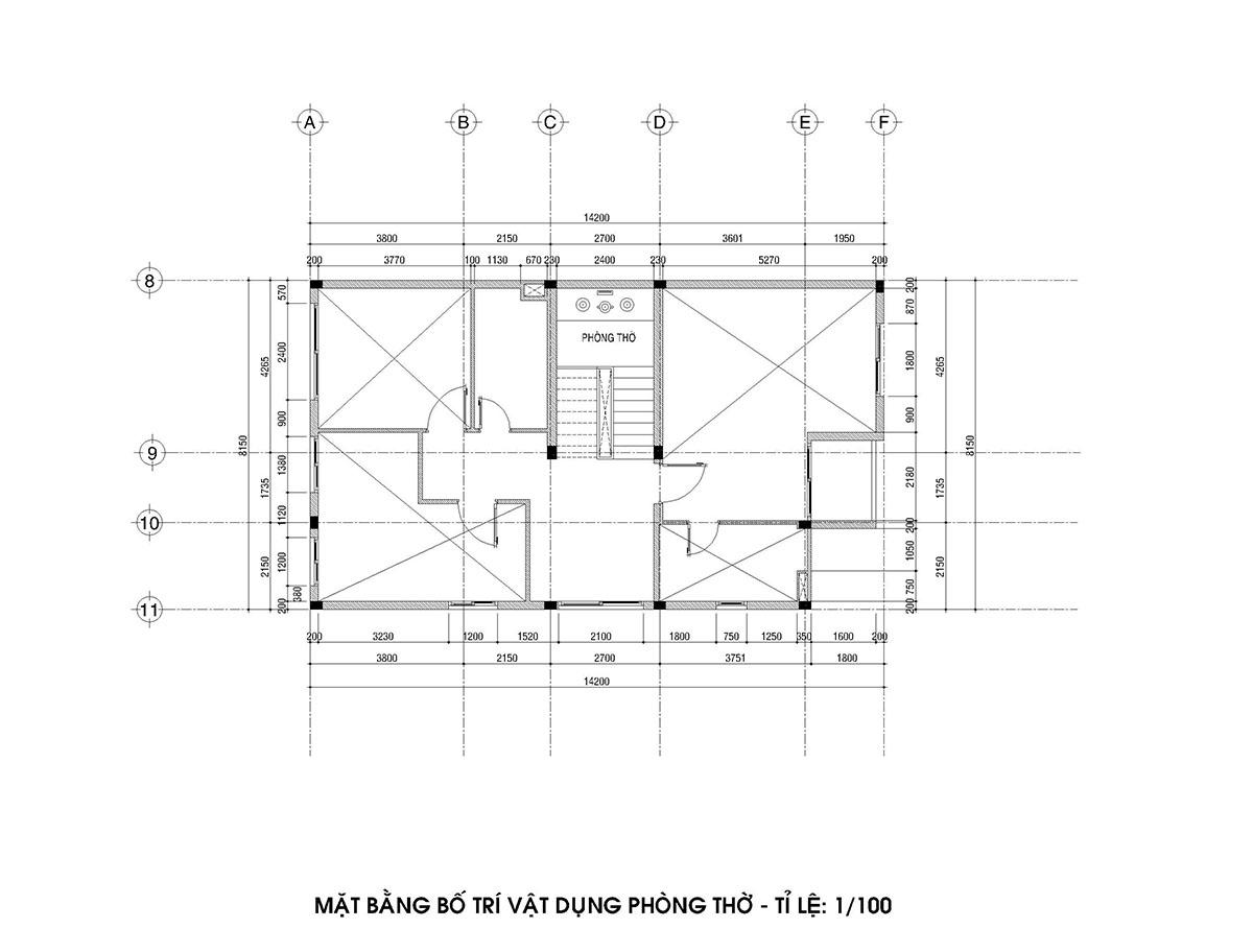 nhà biệt thự 2 tầng 1 tum
