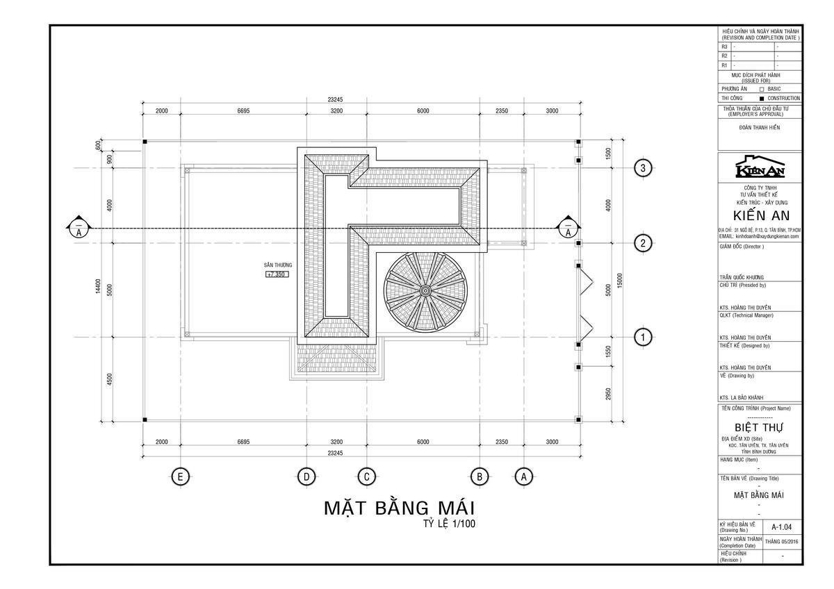 bản vẽ biệt thự pháp 3 tầng