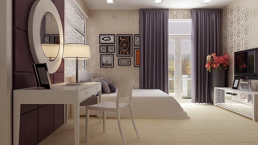 Hình ảnh : phòng ngủ master , sang trọng ấm cúng , của mẫu thiết kế biệt thự mái thái tại Bà Rịa
