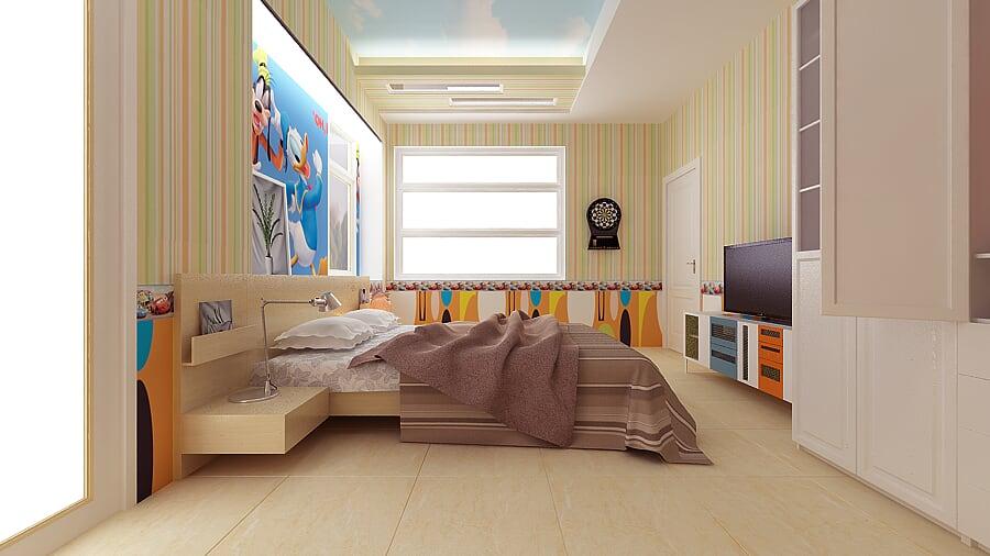 Hình ảnh : phòng ngủ đầy sáng tạo , trẻ trung , năng động dành cho bé
