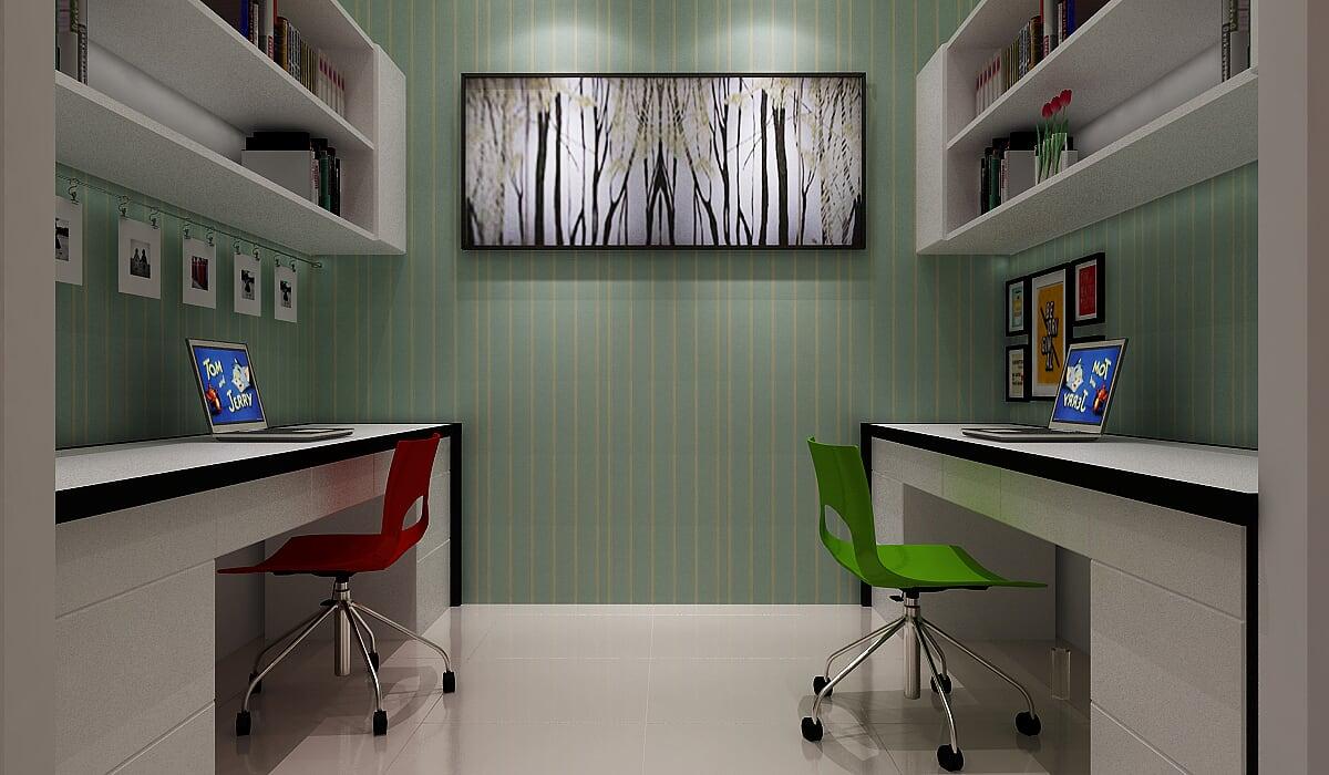 Hình ảnh : phòng làm việc của mẫu thiết kế biệt thự pháp 100mm2