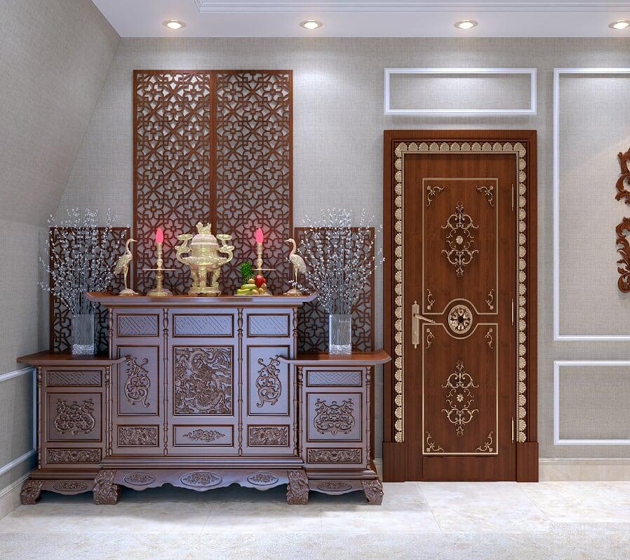 phòng thờ biệt thự