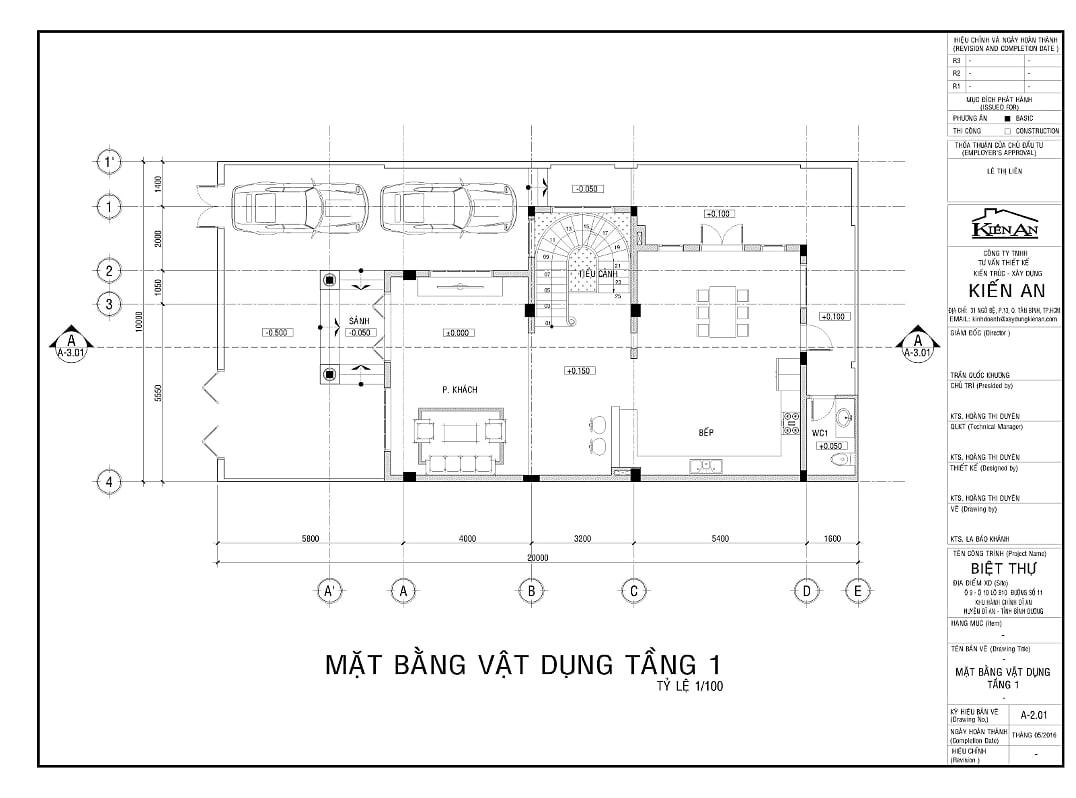 Hình ảnh : mặt bằng tầng 1 của mẫu thiết kế biệt thự hình chữ L