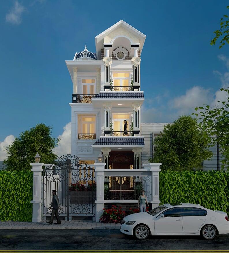 biệt thự tân cổ điển 3 tầng kiểu Pháp