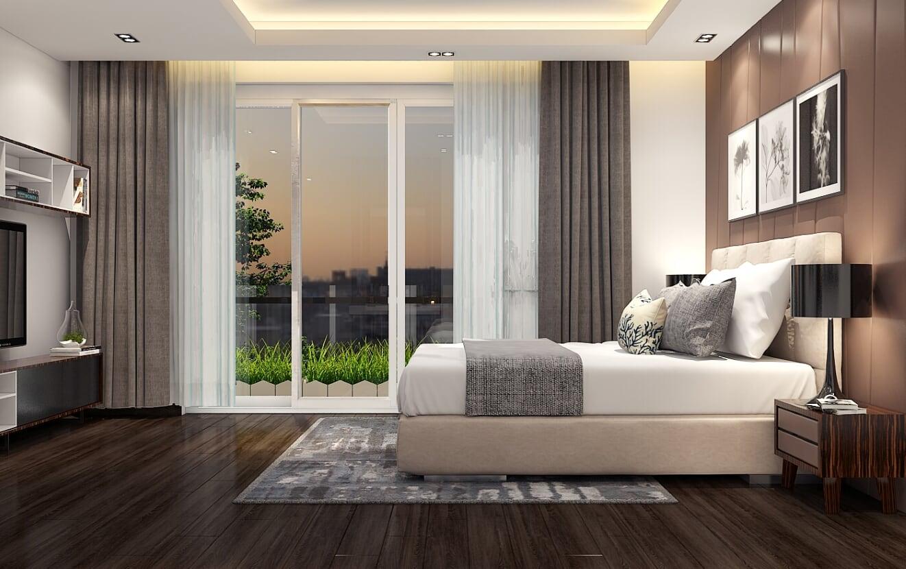 nội thất phong ngủ biệt thự 3 tầng