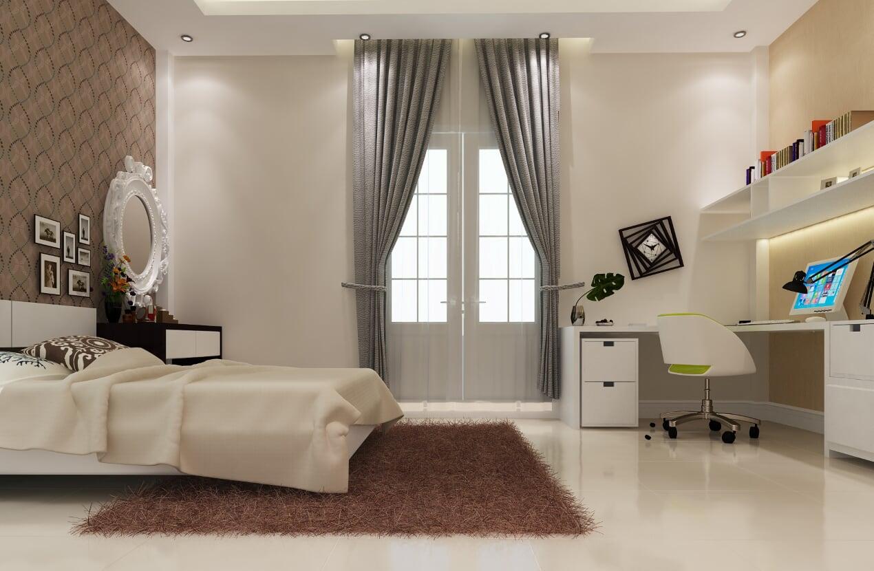 Phòng ngủ master được trang bị cửa ra vào riêng