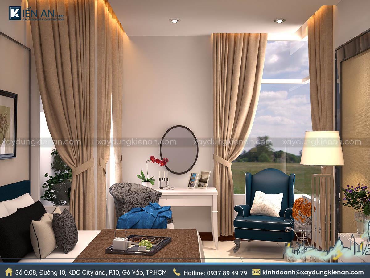 Phòng ngủ nhà phố hiện đại 3 tầng