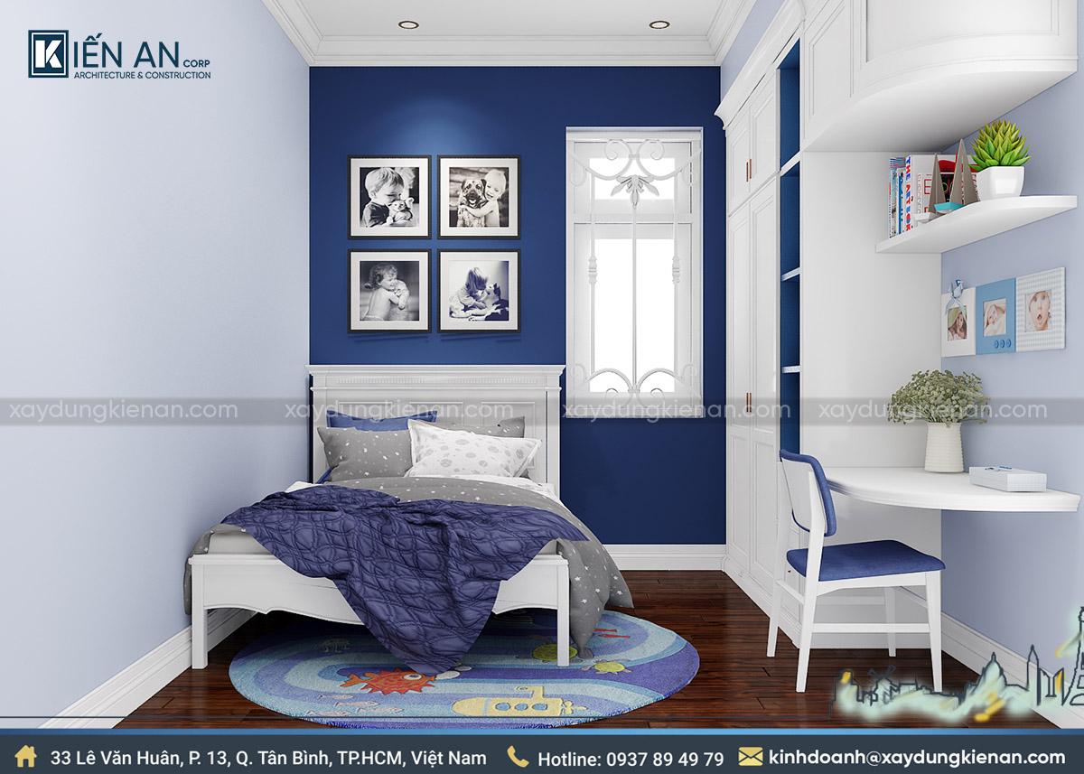Phòng ngủ bé trai biệt thự 2 tầng kiểu pháp