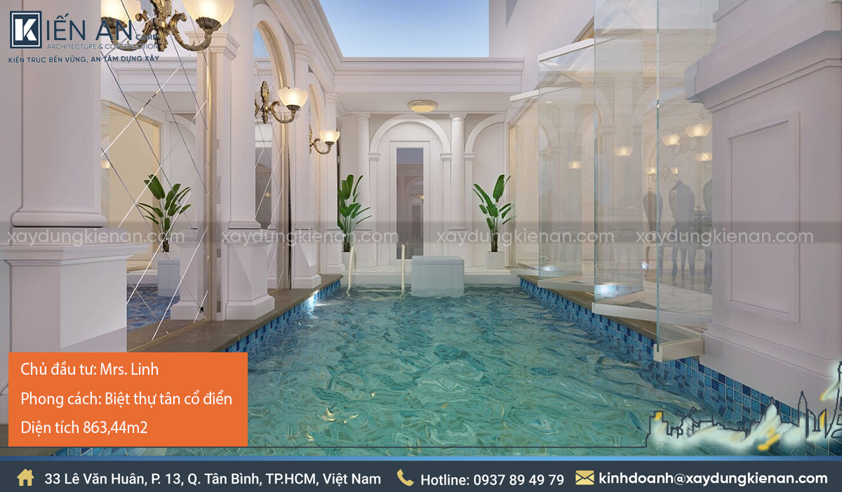thiết kế biệt thự có hồ bơi đẹp